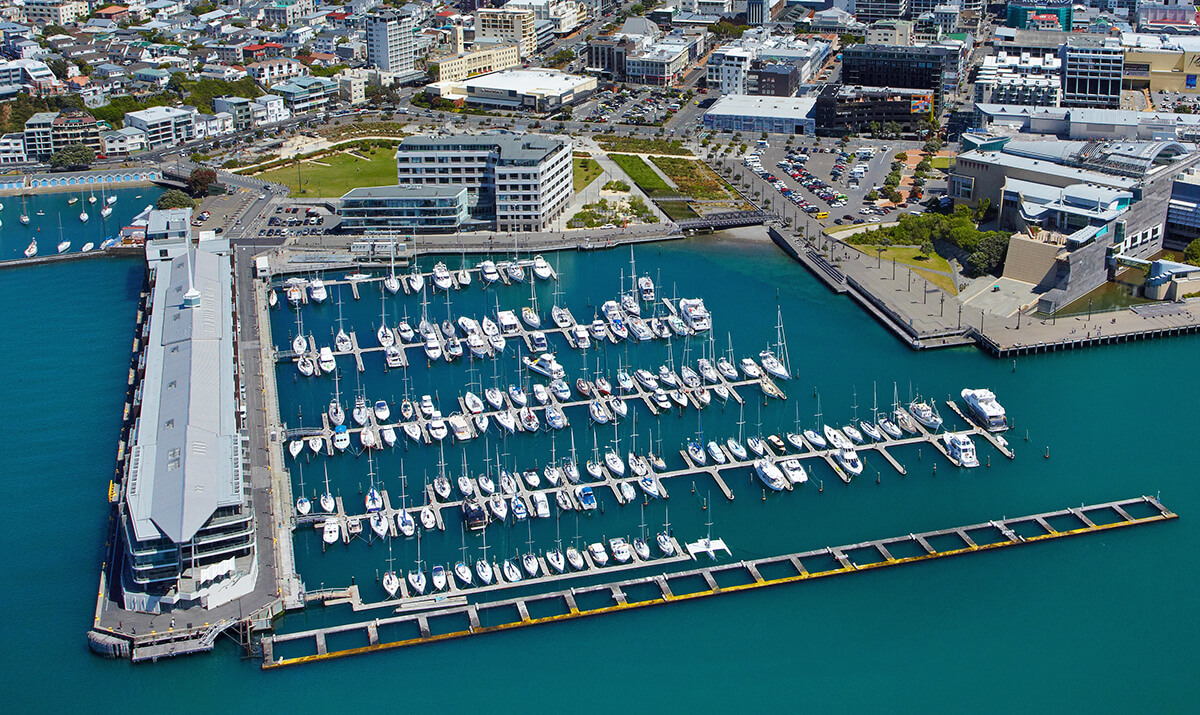 Chaffers Marina Wellington aerial view